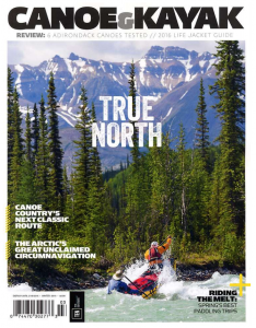 Canoe & Kayak magazine cover, Winter 2016