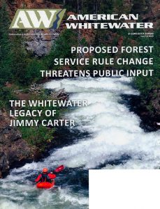 cover of American Whitewater magazine, Sept/Oct 2019